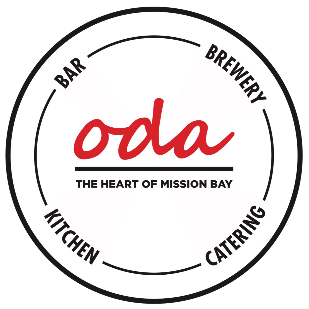 Oda: serving dining and catering needs in Mission Bay with Brew and Full Bar available.
